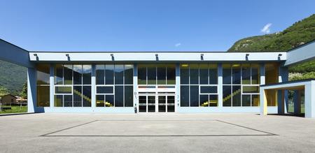 openbare school, de bouw van de buitenwereld