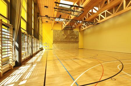 sports hall: public school, building from indoor