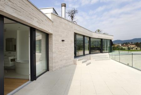 아름다운 현대 집 스톡 콘텐츠