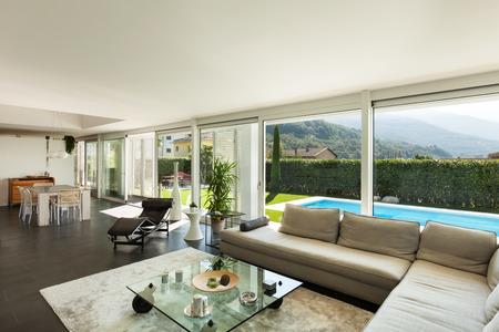 Luxus Villa Moderne Inneneinrichtung Schnes Wohnzimmer