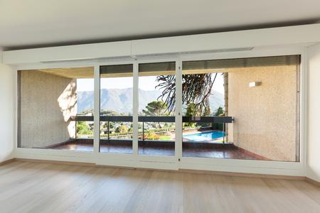 balcony view: Interiors building,  modern apartment, living room