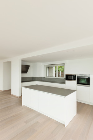 beautiful new apartment, interior, modern kitchen