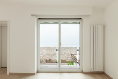 balcony window: beautiful new apartment, interior, view window