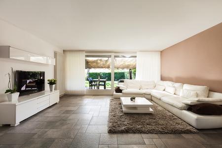 インテリア、美しいアパートメント、豪華なリビング ルーム