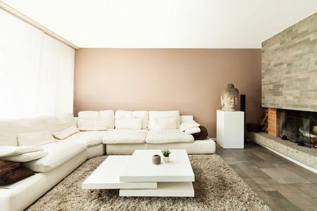 Interior, hermoso apartamento, lujosa sala de estar Foto de archivo - 28898328