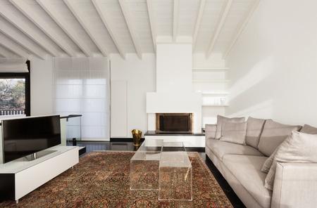 Interieur, Komfortable Dachboden, Moderne Möbel, Wohnzimmer ...