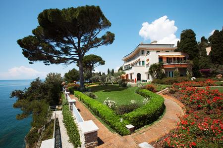 Exterior of mediterranean villa