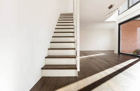 staircase: beautiful interior of a new apartment, staircase view