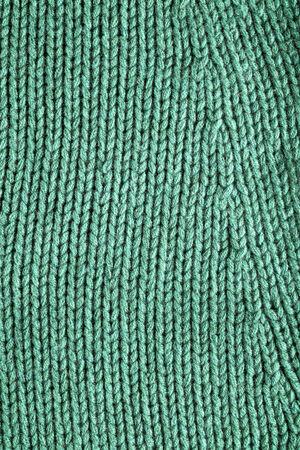 green lines: woolen fabric green, detail, texture background  Stock Photo