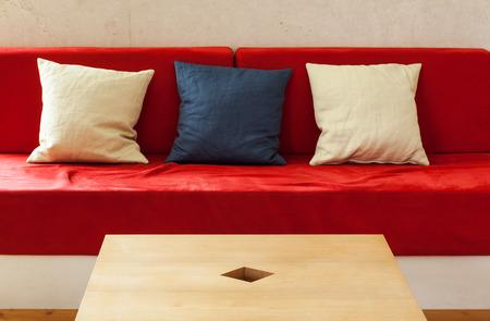 modern interior, living room, detail divan Stock Photo
