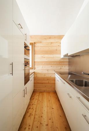 major household appliance: architecture modern design, mountain home, kitchen Stock Photo
