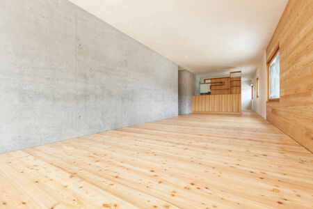 perspective room: architecture modern design, mountain home, room  Stock Photo