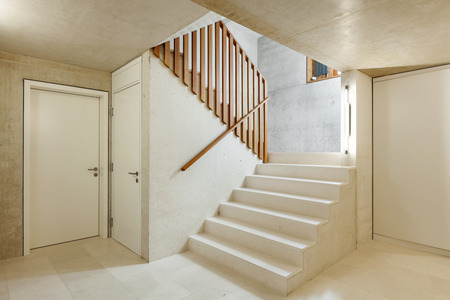 wide open spaces: architecture modern design, interior home, staircase