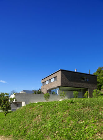 briks: House of modern design, day view Stock Photo