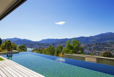 Villa, infinity swimming pool photo