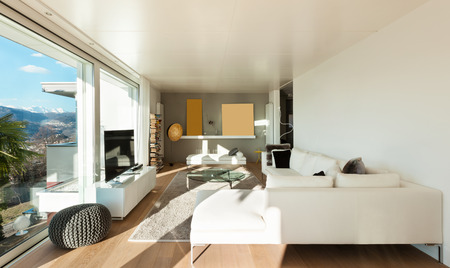 interiors of a modern house, living room