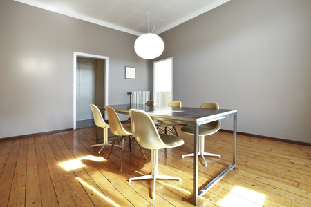 interior beauty and old apartment with parquet photo