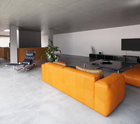 modern living room: Modern house, living room