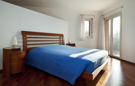 Modern interior bedroom, nobody inside photo