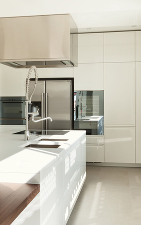 Modern kitchen, interior of a new house photo