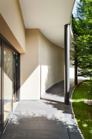 glass doors: entrance of a modern building, outdoor