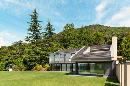 wide open spaces: beautiful modern villa with garden, external