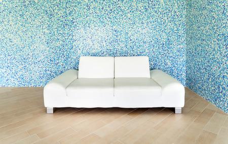 tiled wall: beautiful villa, indoor pool, sitting area