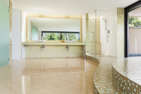 bathroom design: interior modern villa, beautiful bathroom