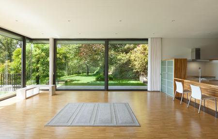 interieur van een modern huis, ruime woonkamer