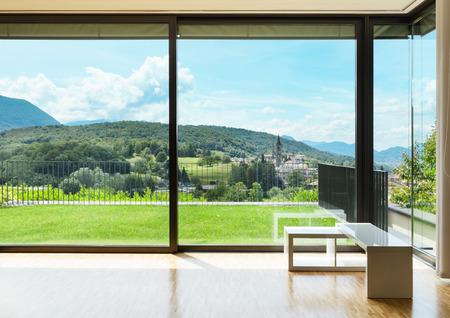 interno di una casa moderna, ampio soggiorno
