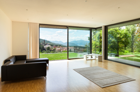 wide open spaces: interior of a modern house, wide living room