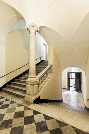 real renaissance: entrance of a beautiful historic building
