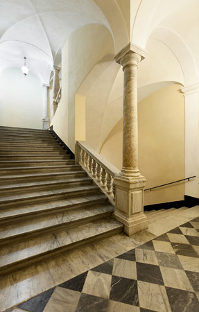 real renaissance: staircase of a beautiful historic building