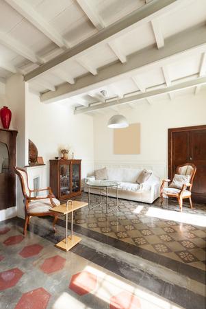 divan: cómoda sala de estar, el interior de un loft