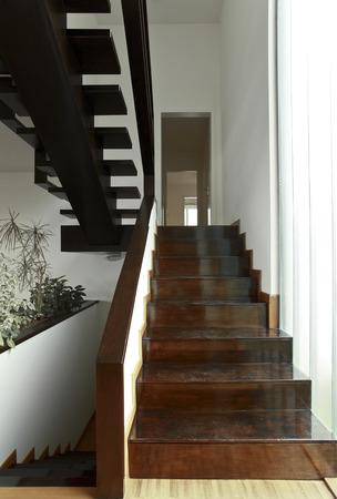 duplex: modern, apartment, wood, staircase, stairs, duplex