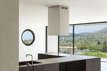 wide open spaces: House, interior, modern architecture, kitchen view