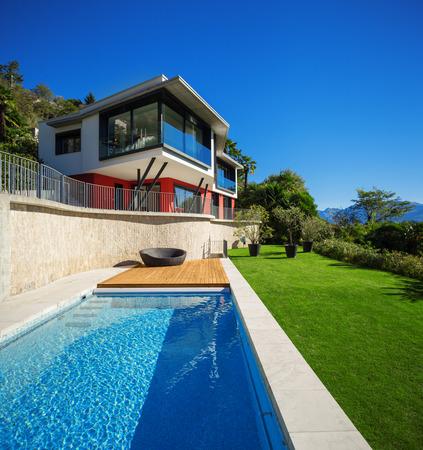 teck: Modern house, outdoor