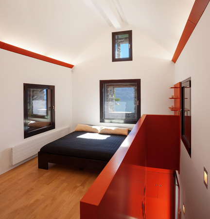 attic: Moden attic, bedroom