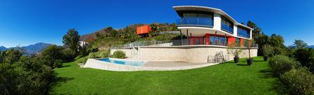 現代の家は、屋外 写真素材