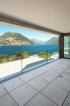 balcony view: Interior, modern building, apartment, balcony view