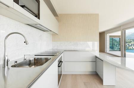 penthouse: beautiful penthouse, view of modern kitchen
