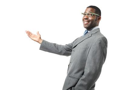 black businessman wearing eyeglasses