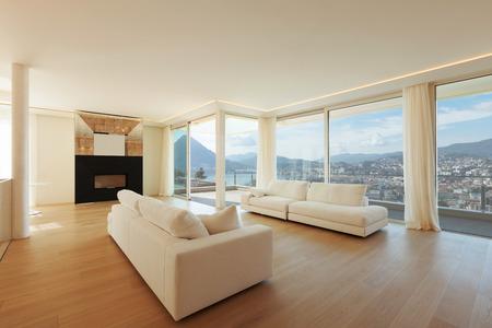 livingroom minimal: Interior, big livingroom Stock Photo