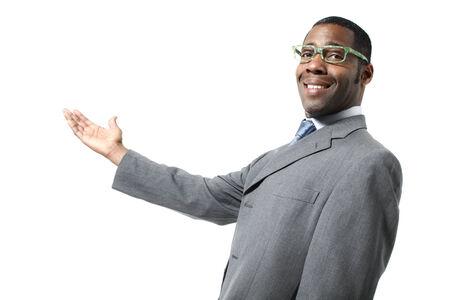 black businessman: black businessman wearing eyeglasses