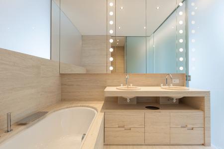 home lighting: Interior modern bathroom