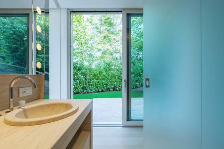 bathroom interior: Interior modern bathroom