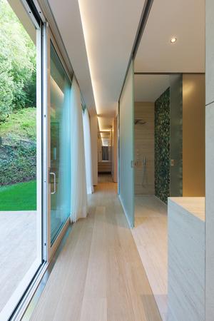 courtain: minimal, interior, hallway