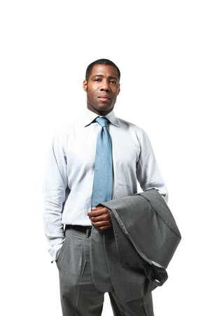Businessman wearing suit, half-lenght portrait Stock Photo