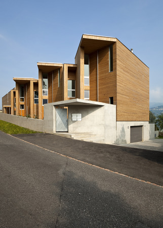 wooden houses: Modern wooden architecture exterior