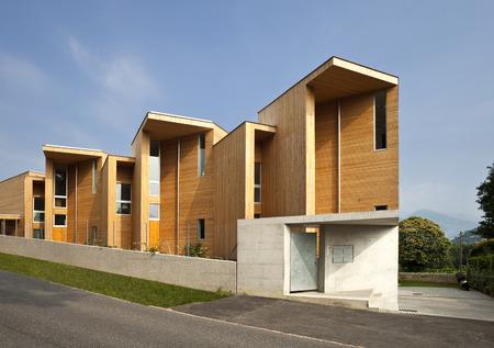 duplex: Modern wooden architecture exterior